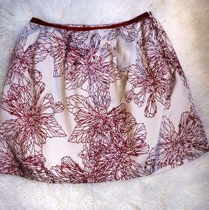 GAP floral mini/midi skirt liner pockets zipper